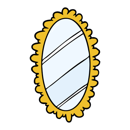 vieux miroir de dessin animé