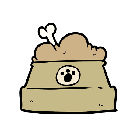 cartoon bowl of dog food