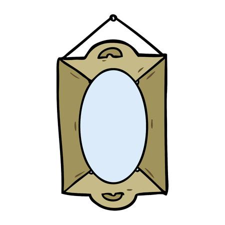 Cartoon gerahmte alte Spiegel Standard-Bild - 94729061
