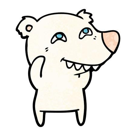 cartoon ijsbeer tanden tonen