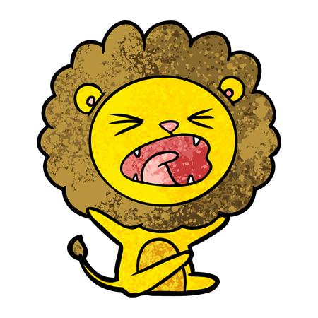 cartoon lion throwing tantrum