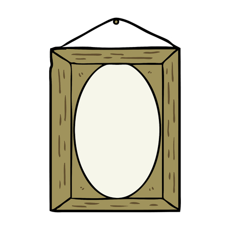 cartoon picture frame vector illustration.