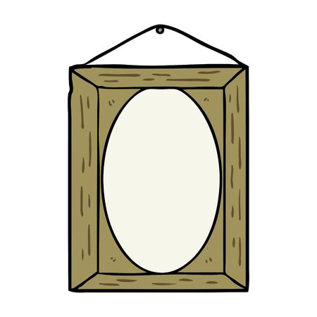 cartoon picture frame vector illustration.