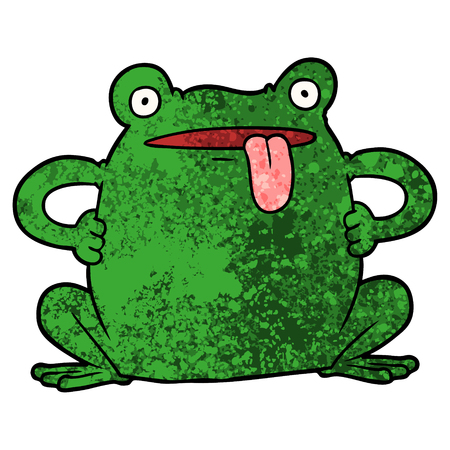 cartoon toad vector illustration.