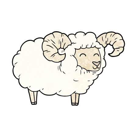 cartoon ram vector illustration. Illusztráció