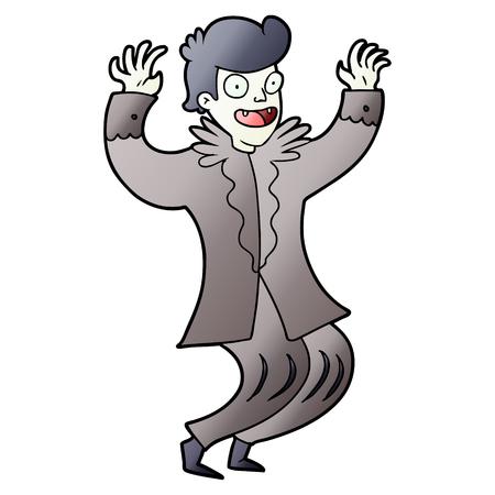 crazy cartoon vampire 向量圖像