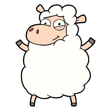 cartoon schapen