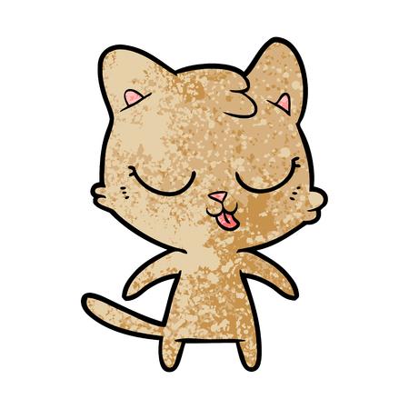 cute cartoon cat Stock Vector - 94730399