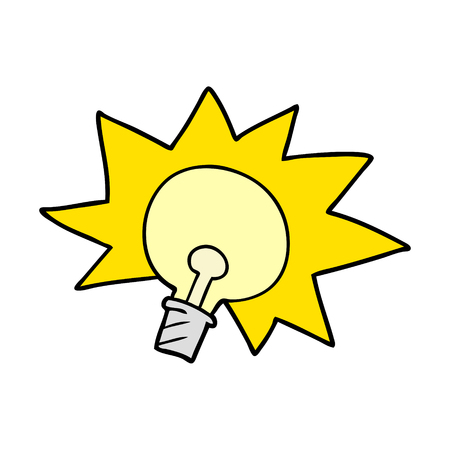 cartoon light bulb 向量圖像