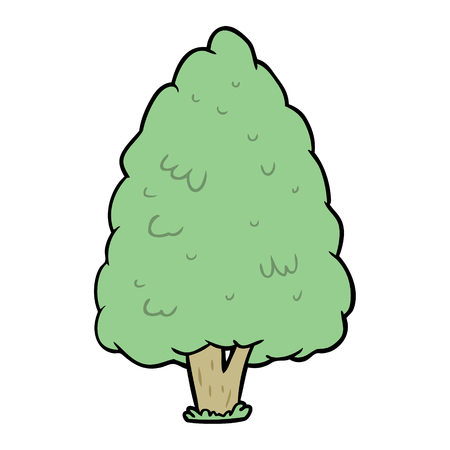 cartoon tall tree