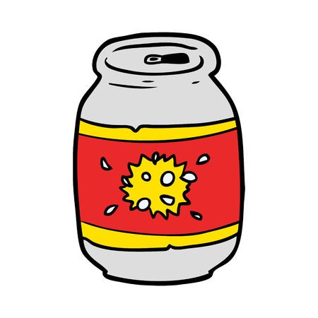 cartoon can of soda