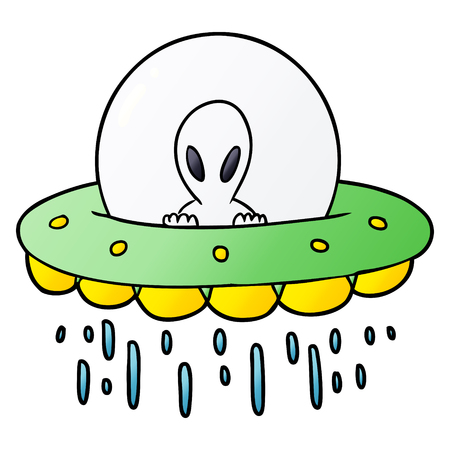 cartoon alien UFO