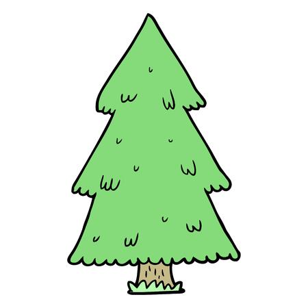cartoon kerstboom Stock Illustratie