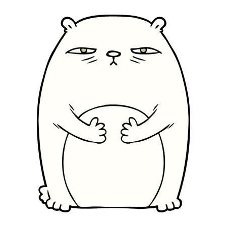tired polar bear cartoon