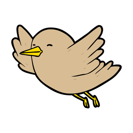 cartoon bird flying