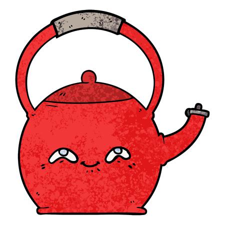 cartoon kettle illustration.