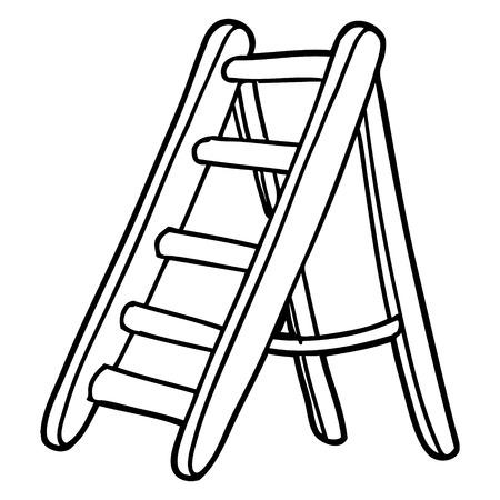 cartoon ladder illustration.