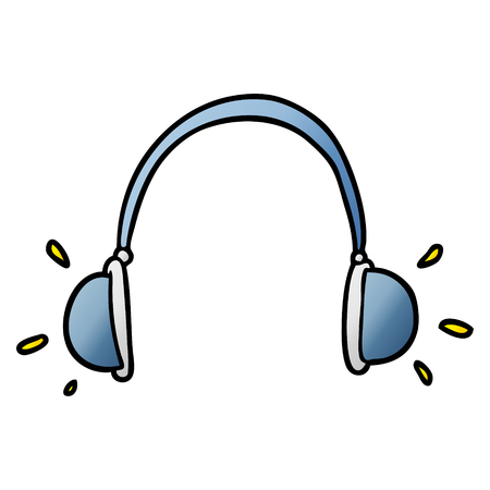cartoon headphones illustration. Vectores