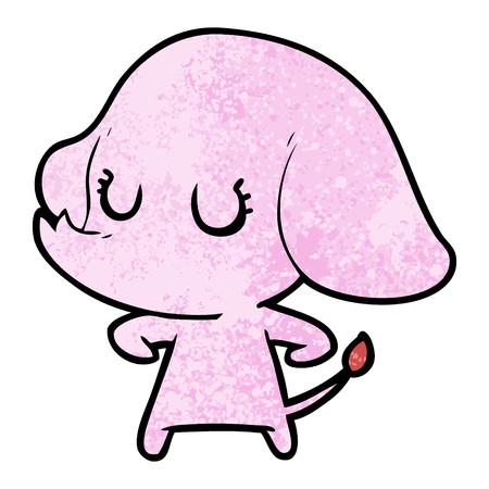 Elefante bonito dos desenhos animados Foto de archivo - 94742679