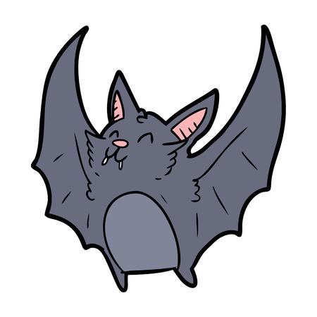 cartoon vampire halloween bat