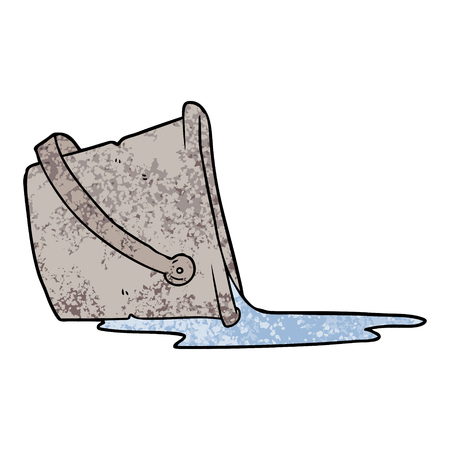 漫画は水のバケツをこぼした