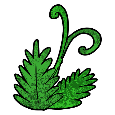 cartoon leaf illustration.