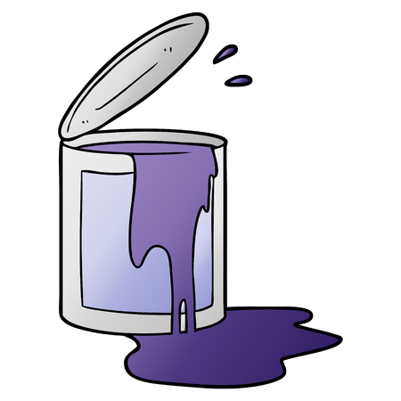 cartoon paint bucket
