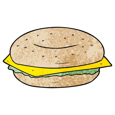 cartoon bagel Vector illustration.