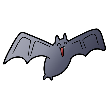 griezelige cartoon vleermuis Vector illustratie.