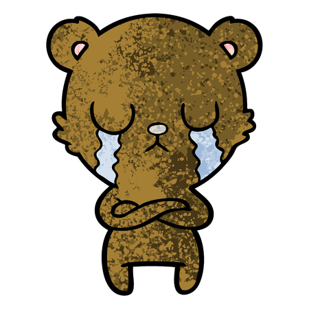 crying cartoon bear Vector illustration. 版權商用圖片 - 94731538