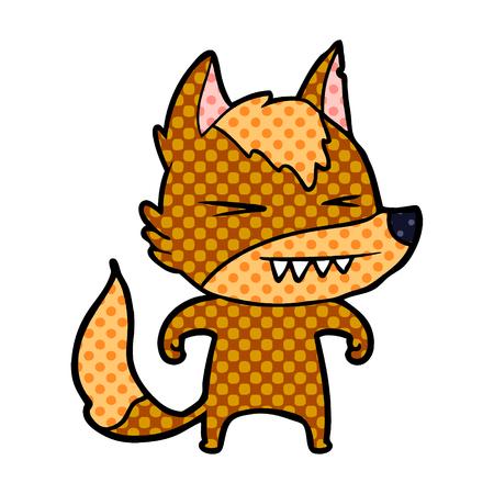 fox cartoon character Vector illustration. Illustration