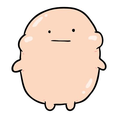 かわいい脂肪漫画人間。