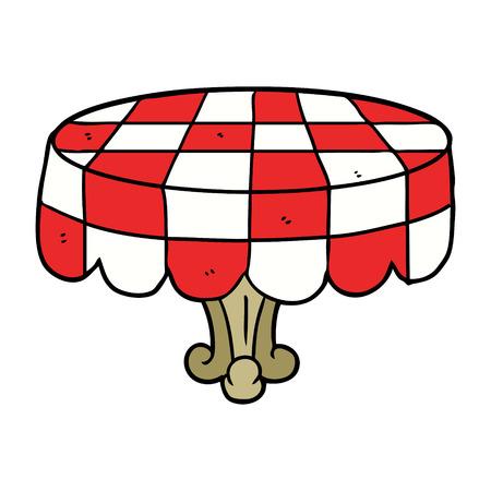 漫画のカフェテーブル。  イラスト・ベクター素材