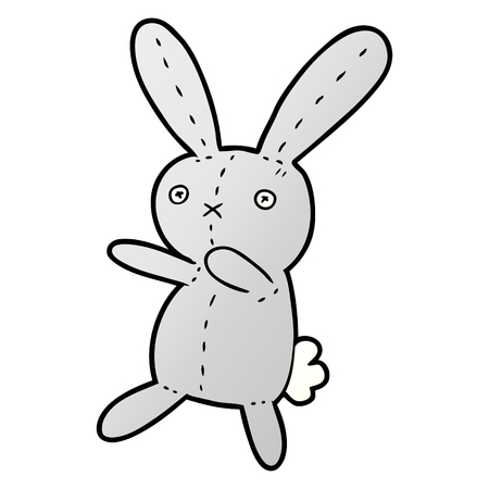 Cartoon toy rabbit.