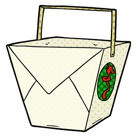 Cartoon takeout food. Illusztráció