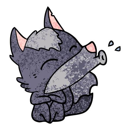 Icona del fumetto di lupo che ulula. Archivio Fotografico - 94733746