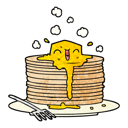 Stack of tasty pancakes icon.