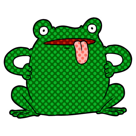 Cartoon toad icon. Illustration