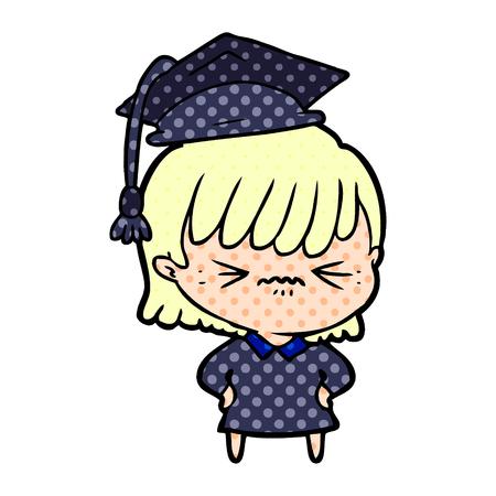 annoyed cartoon girl Vector illustration. Banco de Imagens - 94733763