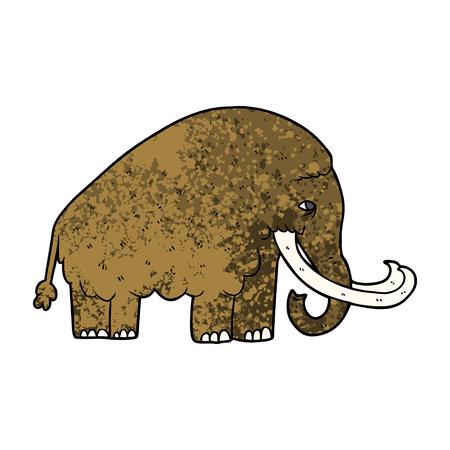 漫画マンモスベクトルイラスト。  イラスト・ベクター素材