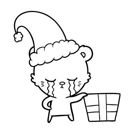crying cartoon christmas polarbear