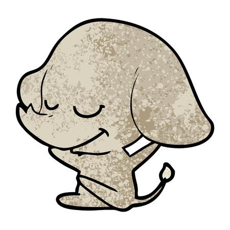 Ilustração de sorriso do vetor do elefante dos desenhos animados. Foto de archivo - 94733947