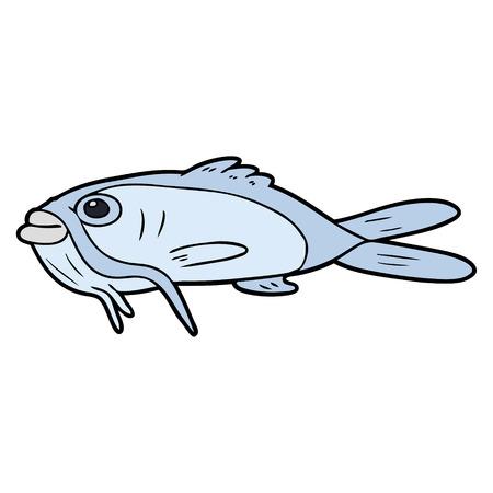 cartoon catfish Vector illustration.