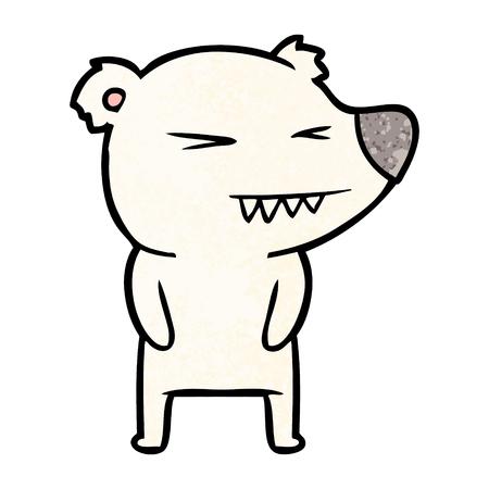 angry polar bear cartoon Stock Vector - 94855856