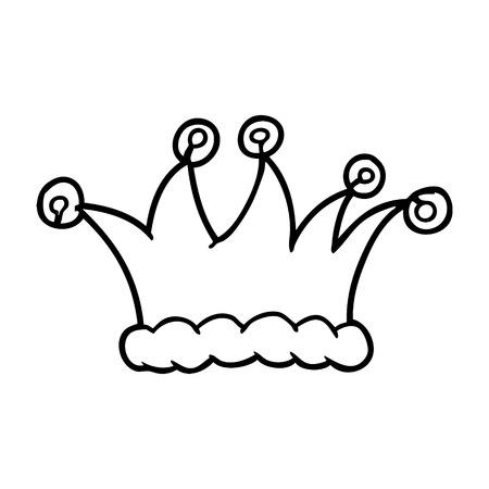 cartoon nar hoed Stock Illustratie