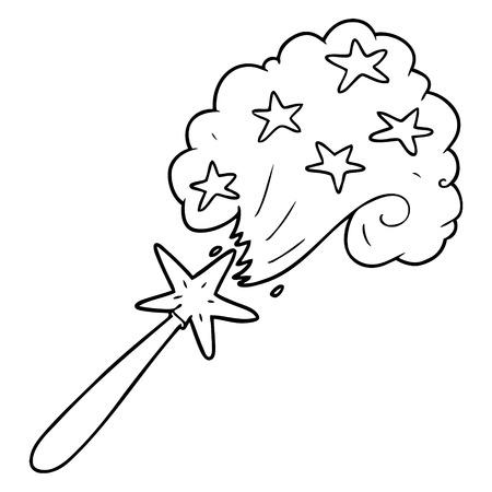 漫画の魔法の杖  イラスト・ベクター素材