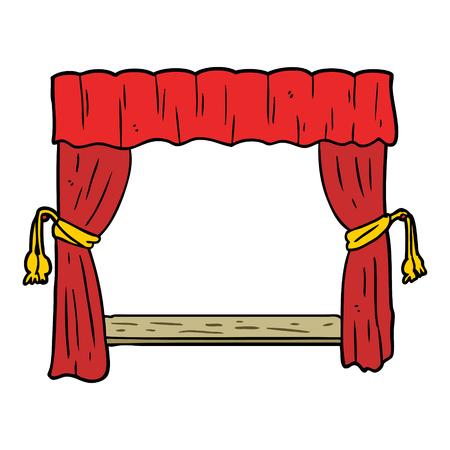 ステージに開く漫画のカーテン