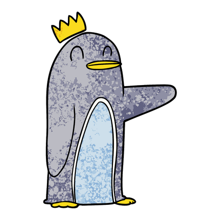 Cartoon emperor penguin.