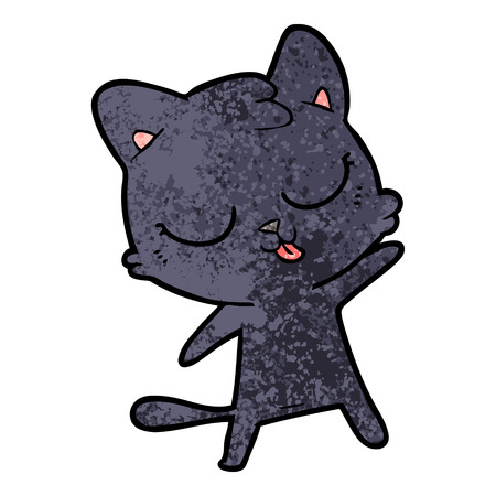 Cute cartoon cat. Illustration