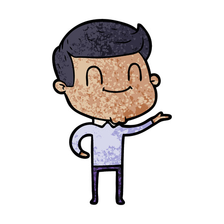 cartoon friendly man Ilustração